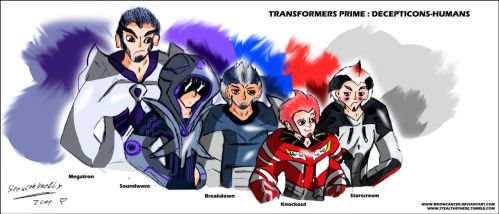 TFP: Decepticons humanized by MoonRayCZ