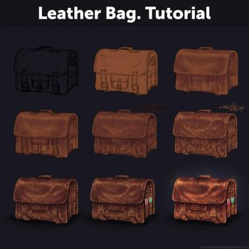 Leather Bag. Tutorial by Anastasia-berry