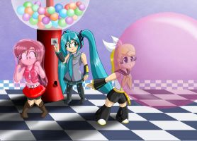 Vocaloid Bubble Cuteness - Version 1 by Thiridian