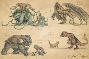 Realistic Pokemon Sketches- Page 1 by TopHatTruffles