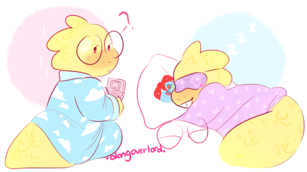 alphys in pajamas by dongoverlord