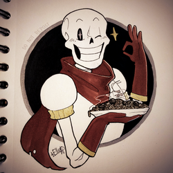 Day 19. Papyrus + Scorched [Inktober] by elleap