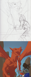 Dragon Battle Process by Monsieur-Beefy