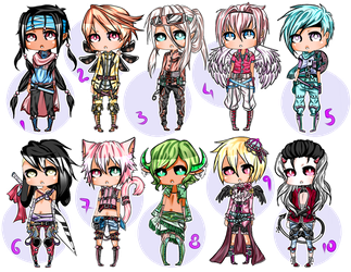 Fantasy Styled Male Adopts - Closed by Decora-Adopts