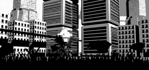 Cityscape 1b by vulpinoid