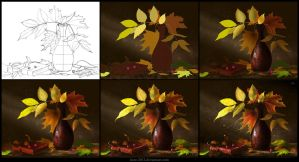 Leaves [Making of] by Azot2018