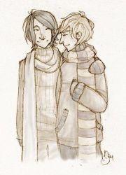 Sirius and Remus by rethe