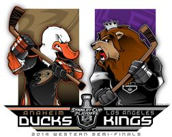 NHL-PLAYOFFS-Rd2 Ducks vs. Kings by Epoole88