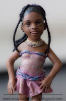African Dollhouse Doll Donna 1 by ALBuslovich