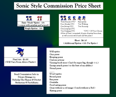Sonic Style Commission Price Sheet by Nicholas-The-Flames
