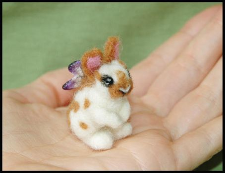 Needle felted Fairy Bunny by amber-rose-creations