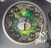 Totoro clock by Awi87