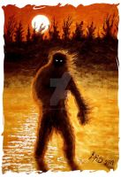 Bigfoot at Dusk by sextoncreations