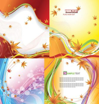 Abstract Autumn backgrounds by vectorbackgrounds