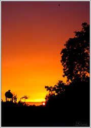 Sunset silhouette by B-Hart