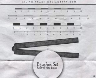 Rulers ll Map Scales Brushes #16 by LilithDemoness