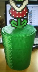 Carnivorous Flower from Mario - Perler or Hama by Chrisbeeblack