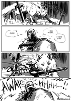 Dark Souls - The Sword and The Wolf. by Petitecreme