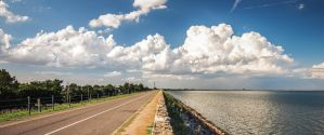 Clouds Over Lake Hefner by jwdonley
