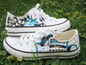 Totoro and Nekobasu Shoes by Itiohs
