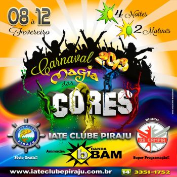 Flyer Carnaval Magia das Cores by battiston