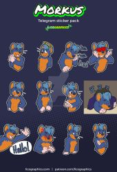 Sticker pack for Morkus by LicosAragon