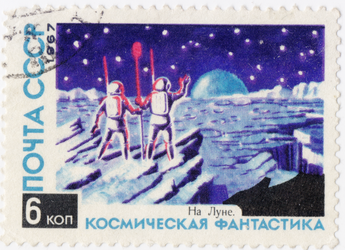 On the moon 1967 by polfrey