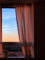 Sunset In The Curtains by KMourzenko
