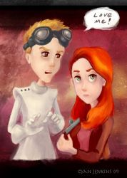 Penny and Dr. Horrible by Shadowcy