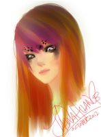 Orange and Purple Hair by Ahsayuni-Love