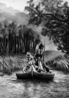 Couple in a Boat by Asynja