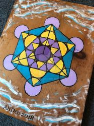 Painted Merkabah on Plywood by AliDee33