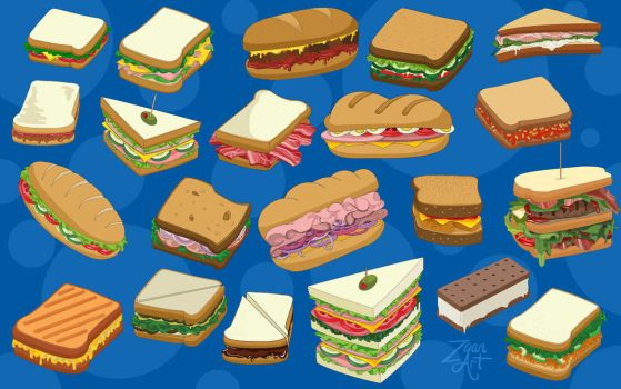 Sandwiches by Zyari