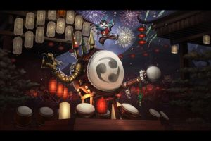 Taiko Rumble : Lunar Revel Contest by Amylrun