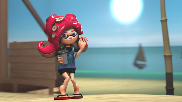 Rudy's Summer Outfit [Splatoon SFM] by Geoffman275