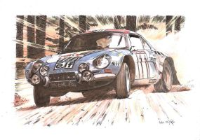 Alpine A110 Gr4, (water)color version by Leotrek
