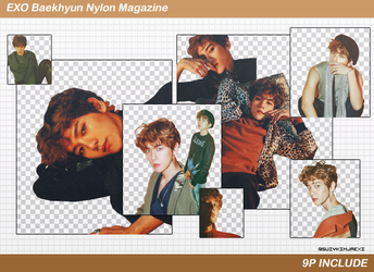 [SHARE PNGs] Baekhyun Nylon 9P Render Pack @EXO by SuzyKimJaeXi