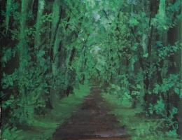 Road in the forest by fuguta26