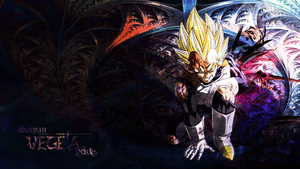Vegeta Wallpaper by Lizardona
