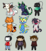 10k Stream Chibis!! by theIcecolo