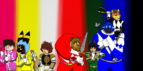 We are the Power Rangers!!! by marillon954