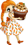 Carrot Cupcake Girl Commission