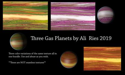 Three Gas Planets by Ali Ries 2019 by Casperium