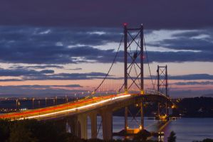Forth Road Bridge, South side. by BusterBrownBB