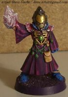 Eldar Warlock with Energy by NPlusPlus