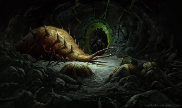 Diablo 2 Act 2 Maggot lair by UnidColor