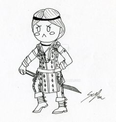 Inktober #6 - Guard-Captain Aveline by DamaXion