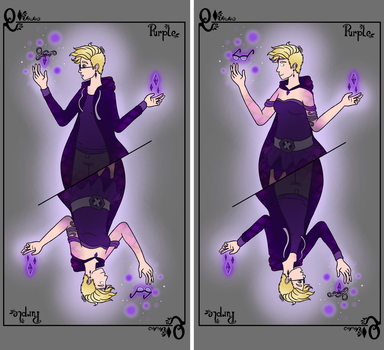 Character Cards: Purple by TiniestTinsel