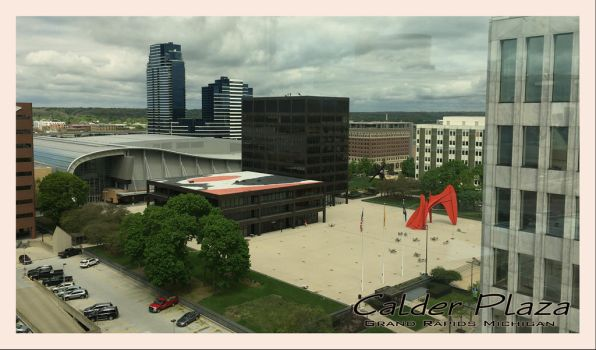 Calder Plaza Post Card by lonermade