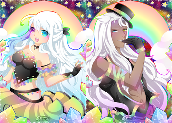 + Miss And Mister Rainbow + by AngeKrystaleen